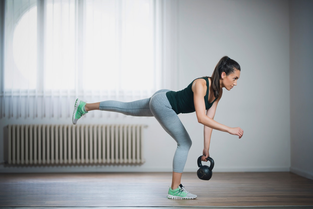 These kettlebell workout moves for beginners will work your lower body muscles.