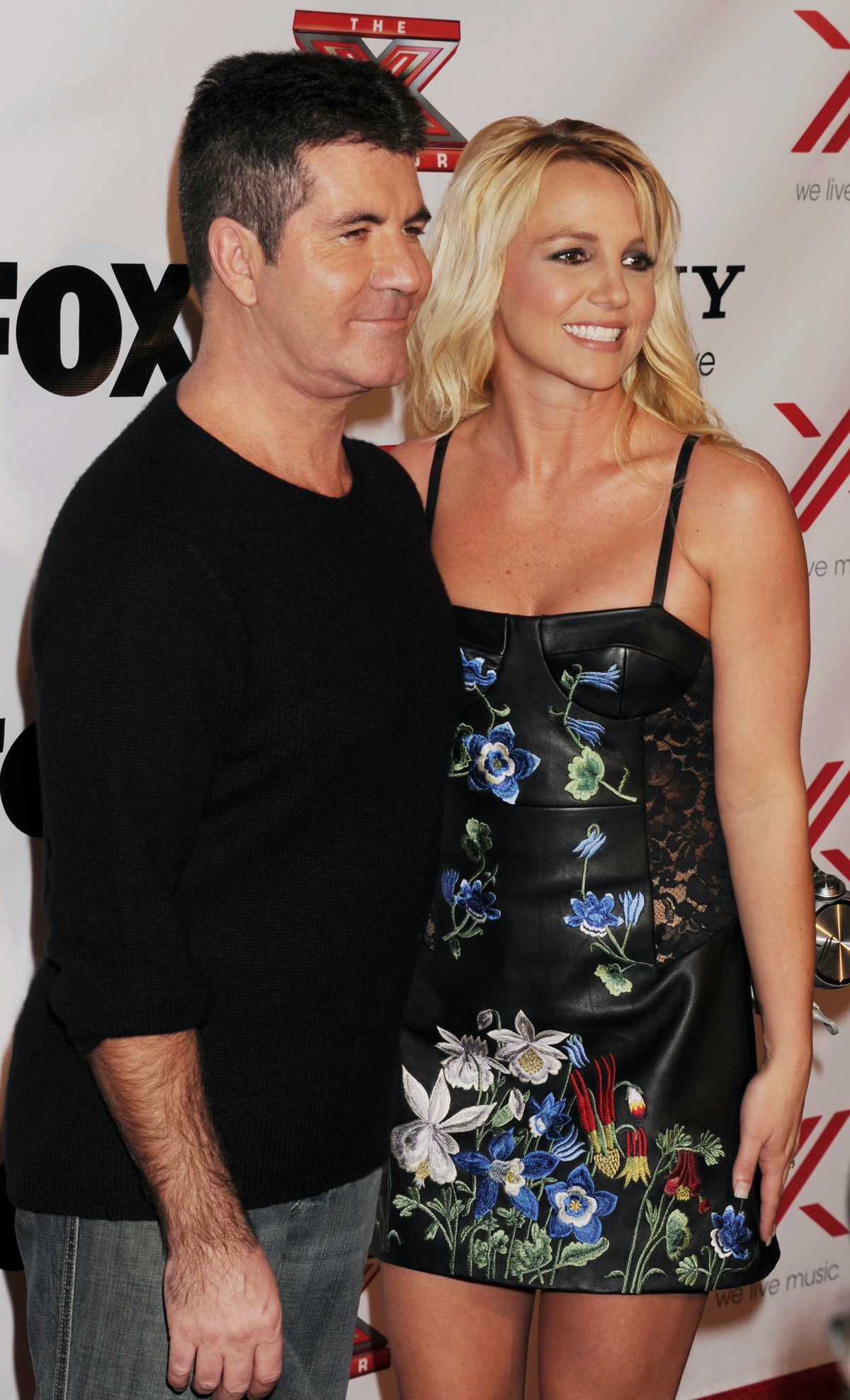 LOS ANGELES, CA - DECEMBER 06: Simon Cowell and Britney Spears arrive at the 'The X Factor' viewing ...