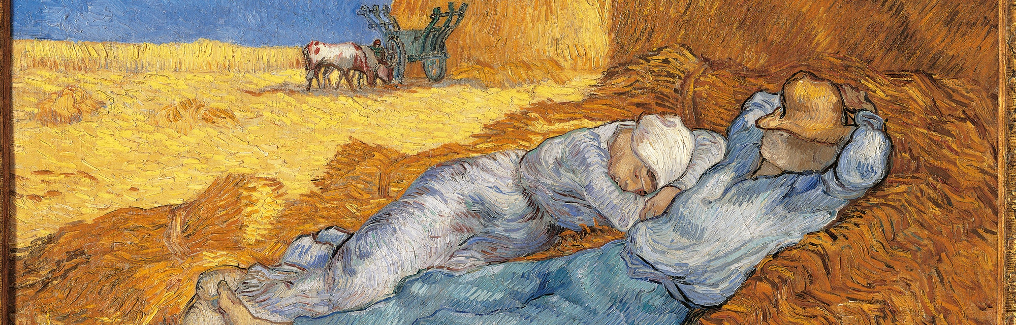 France, Ile de France, Paris, Muse dOrsay, RF1952-17. Whole artwork view. Sheaf sleeping yellow azur...