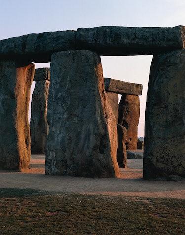 UNITED KINGDOM - CIRCA 2003: The megalithic monument of Stonehenge (Unesco World Heritage List, 1986...