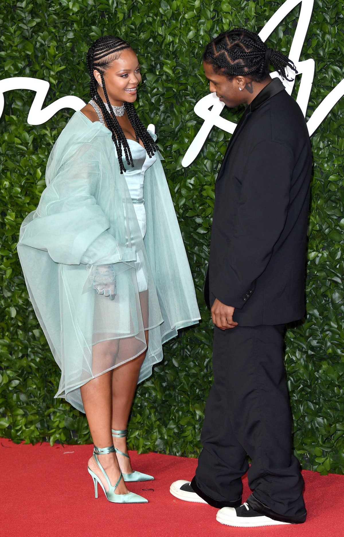 Rihanna and ASAP Rocky attend The Fashion Awards 2019 in London, England; may get engaged soon. (Pho...