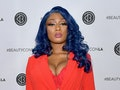 LOS ANGELES, CALIFORNIA - AUGUST 11: Megan Thee Stallion attends Beautycon Los Angeles 2019 Pink Car...
