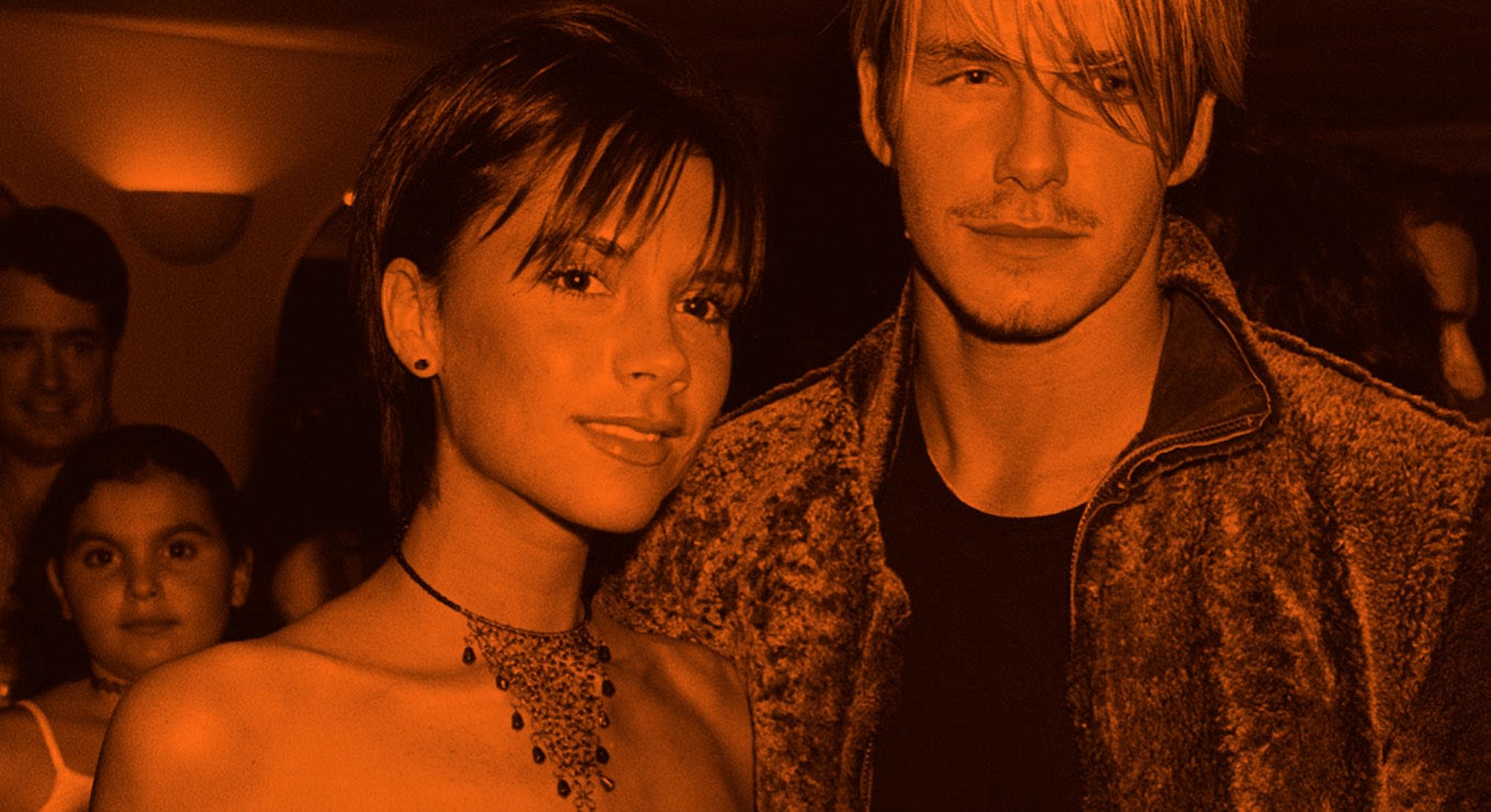 UNITED KINGDOM - SEPTEMBER 20:  Victoria Adams & David Beckham, Backstage After Whitney Houston Conc...