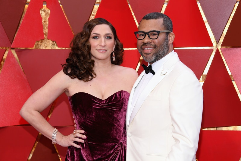 Chelsea Peretti and Jordan Peele at the 90th Academy Awards in 2018.