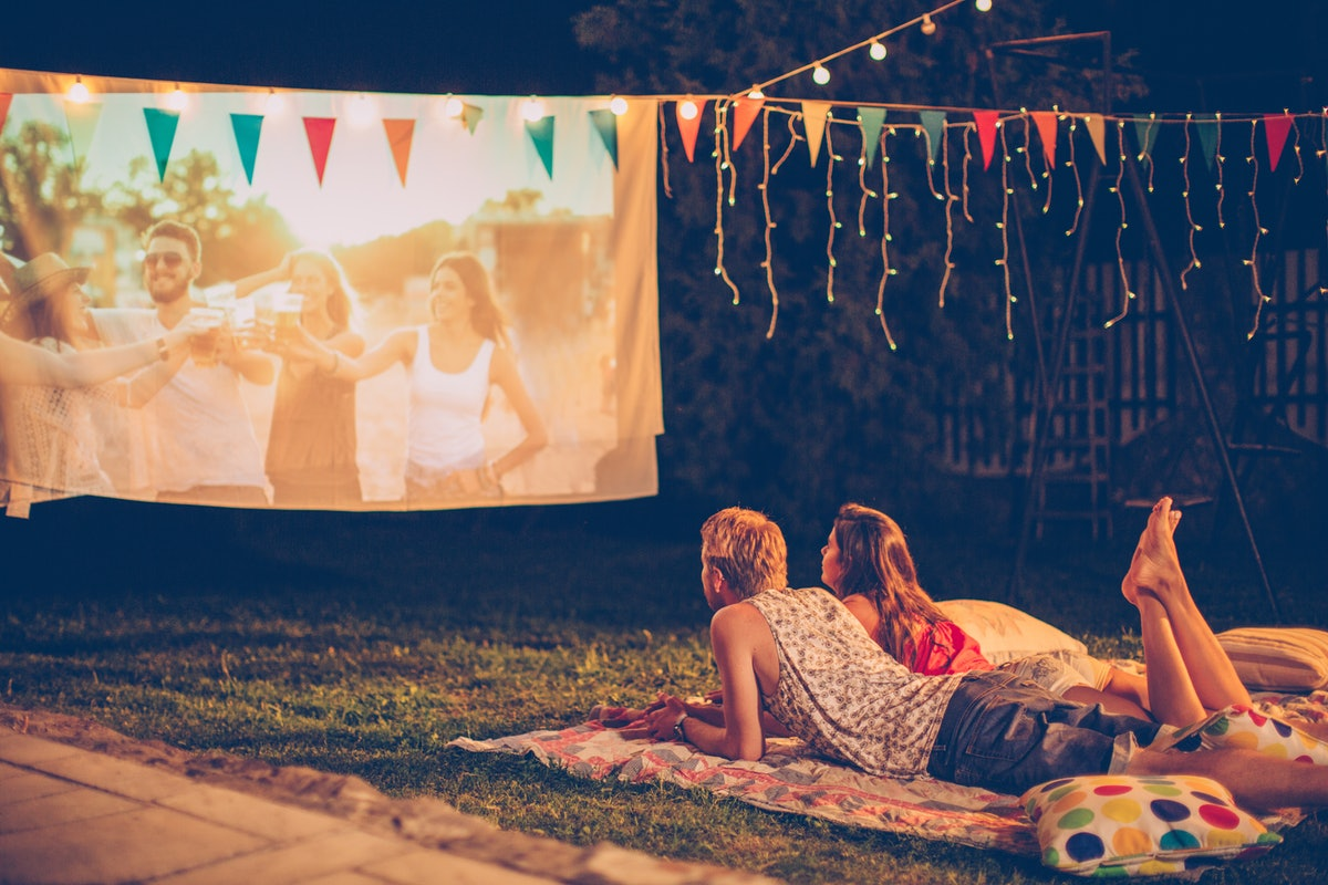 Enjoy an outdoor movie night by sharing the experience on Instagram with one of these captions.