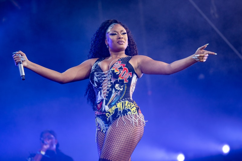 CHICAGO, ILLINOIS - JULY 31: Megan Thee Stallion performs at the 30th Anniversary of Lollapalooza at...