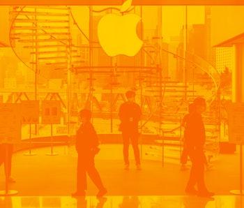 HONG KONG, CHINA - 2021/05/18: American multinational technology company Apple store and logo seen i...