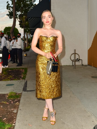 LOS ANGELES, CA - AUGUST 24: Dove Cameron is seen in Los Angeles, California on August 24, 2021.  (P ...