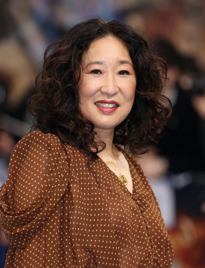 """LONDON, ENGLAND - AUGUST 26: Sandra Oh attends the """"Shang-Chi"""" premiere screening on August 26, 2021..."""