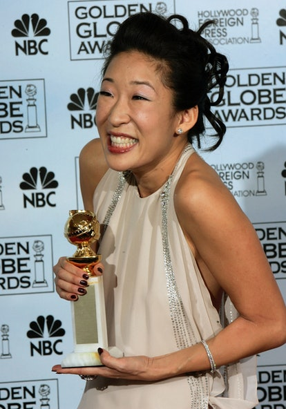 Sandra Oh won for Best Performance by an Actress in a Supporting Role in a Series, Miniseries or a M...