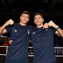 Great Britain's Pat and Luke McCormack during the media day at the Copper Box Arena, London. (Photo ...