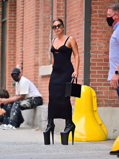 NEW YORK, NEW YORK - JULY 26: Lady Gaga seen on the streets of Manhattan on July 26, 2021 in New Yor...