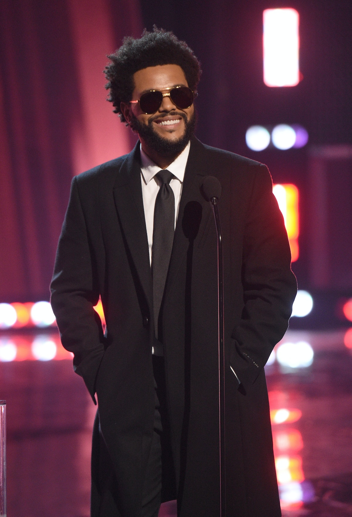 The Weeknd at the Grammys.