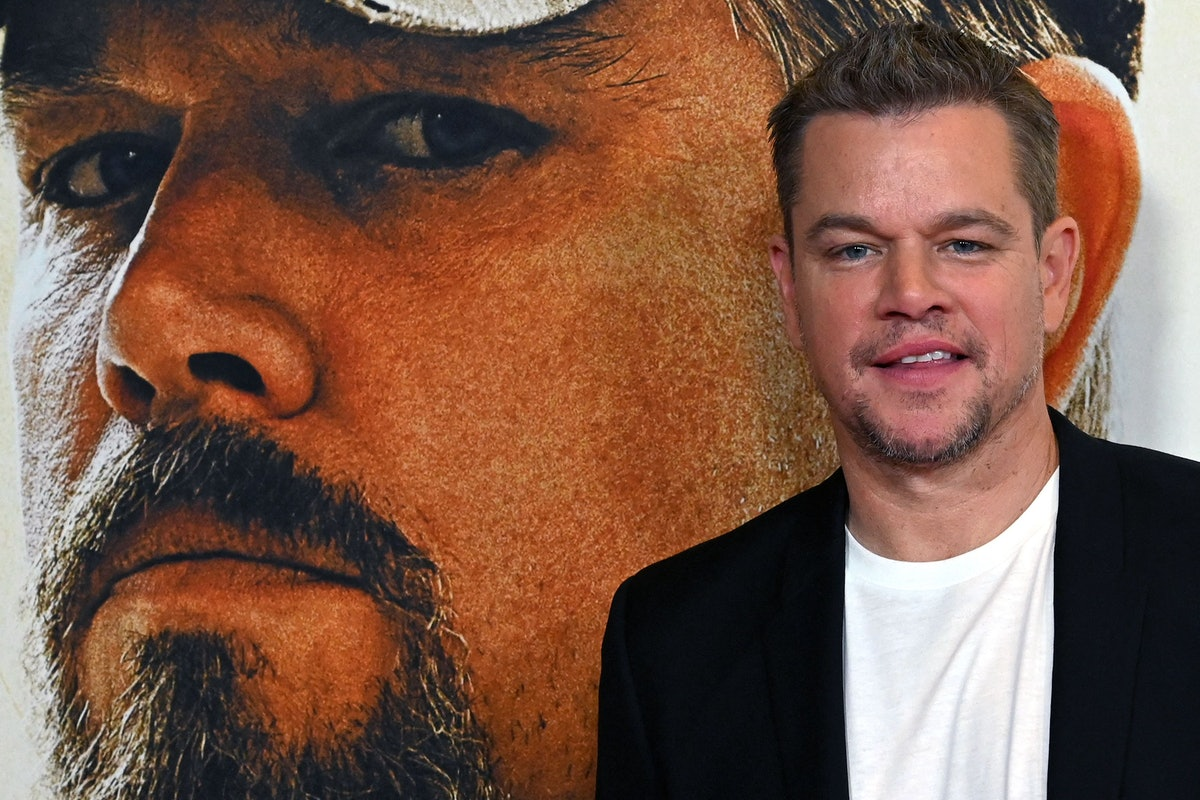 """Actor Matt Damon arrives for the premiere of """"Stillwater"""" at the Rose Theatre, Jazz at Lincoln Cente..."""