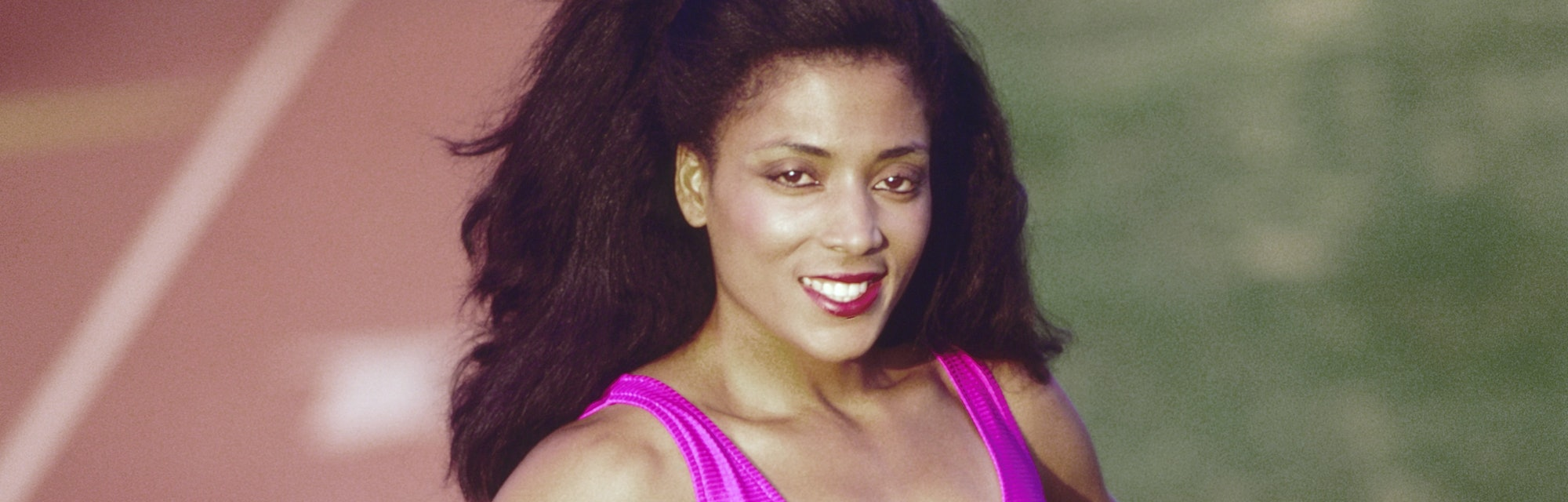 LOS ANGELES - DECEMBER 1982: Florence Griffith Joyner poses for a portrait in Los Angeles, Californi...