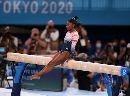 This video of Simone Biles' bronze beam performance is pure joy.