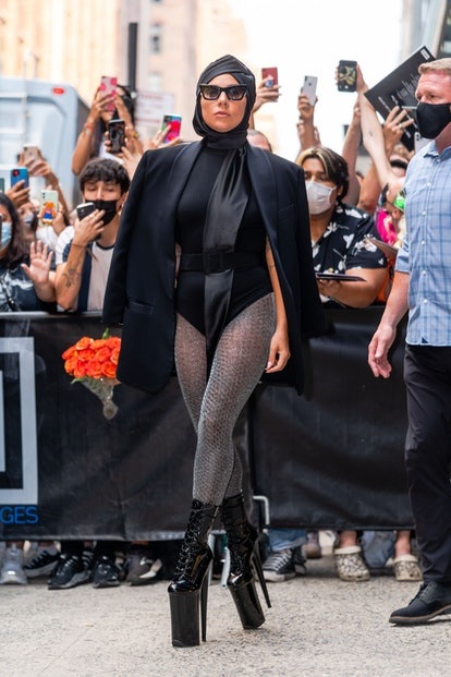 NEW YORK, NEW YORK - JULY 28: Lady Gaga is seen in Chelsea on July 28, 2021 in New York City. (Photo...