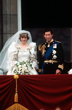 Prince Charles And Princess Diana On The Balcony Of Buckingham Palace On Their Wedding Day, 29th Jul...