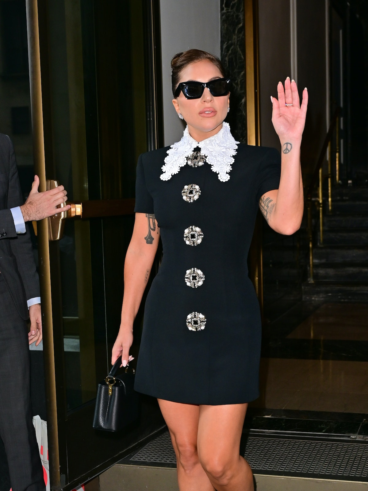 NEW YORK, NEW YORK - JULY 30: Lady Gaga seen on the streets of Manhattan on July 30, 2021 in New Yor...