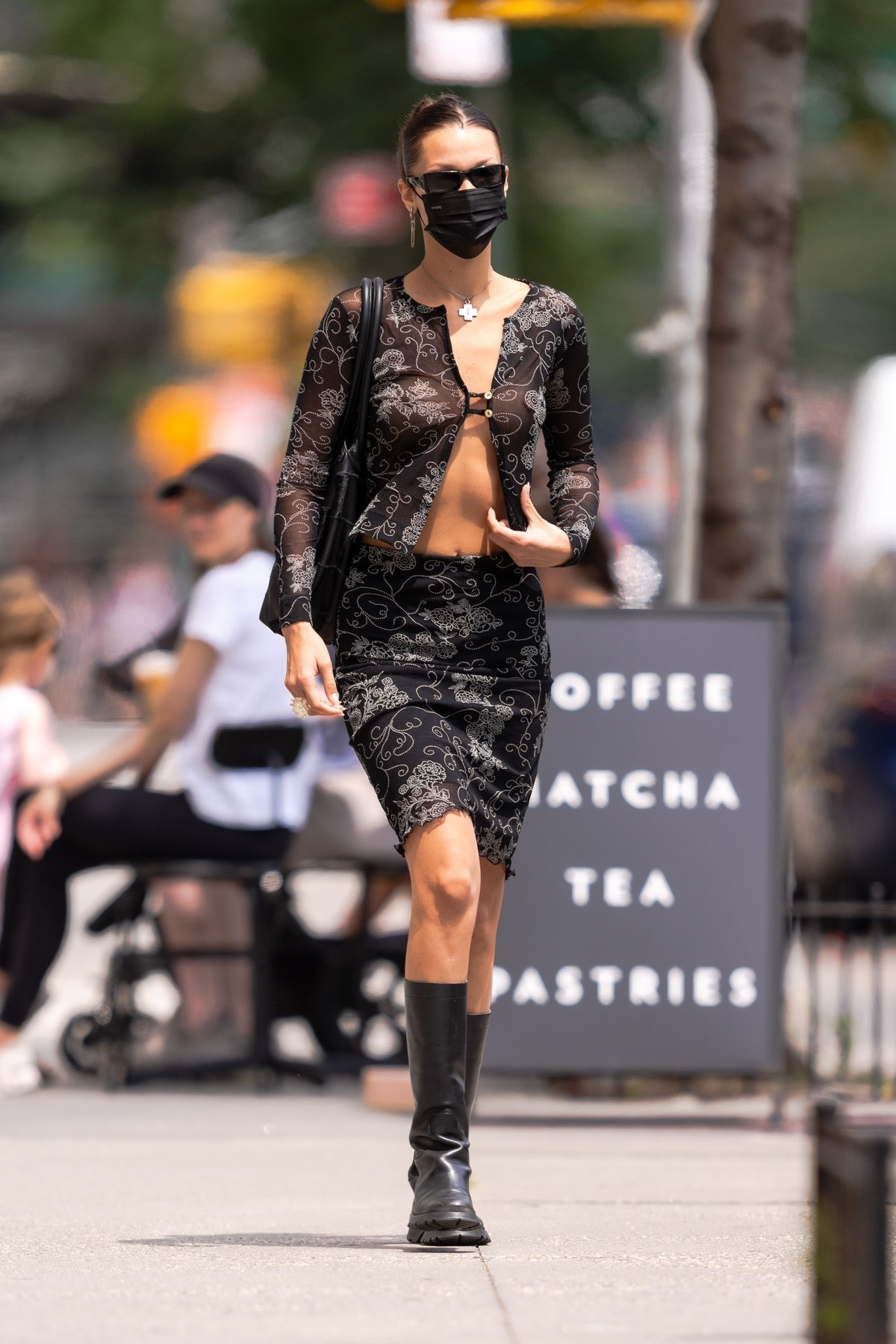 Bella Hadid in New York City in August 2021.