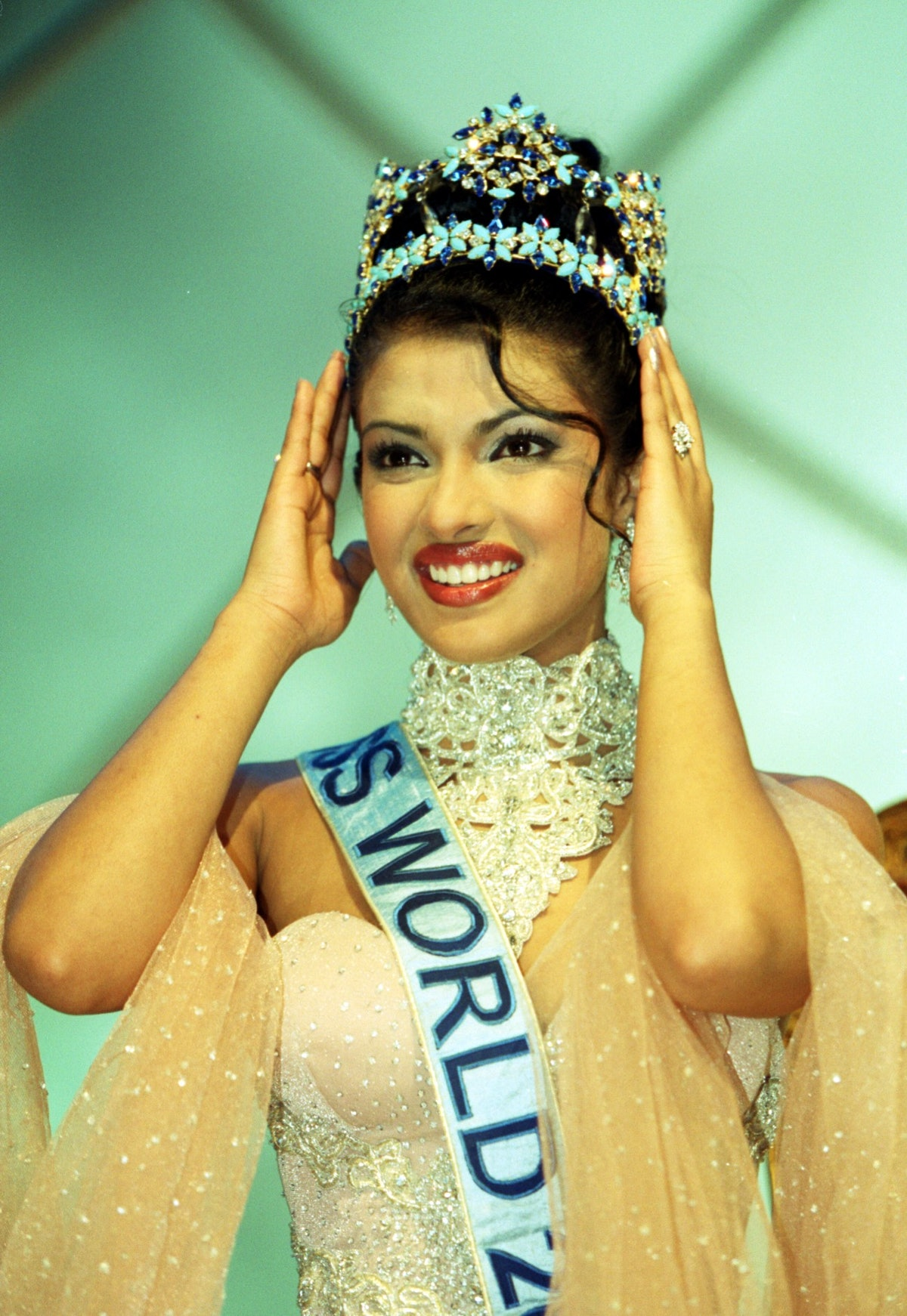 The winner of Miss World 2000, Miss India, Priyanka Chopra, 18, during the Miss World contest at The...