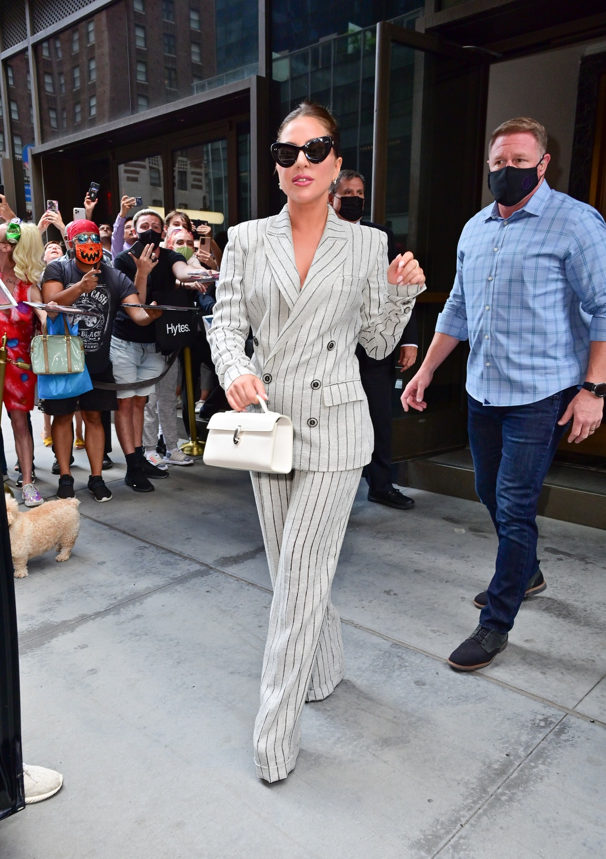 NEW YORK, NEW YORK - AUGUST 02: Lady Gaga seen on the streets of Manhattan on August 02, 2021 in New...