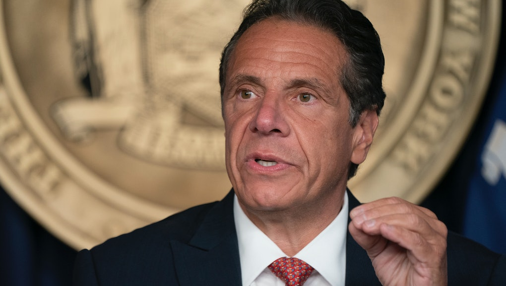 NEW YORK, UNITED STATES - 2021/08/02: Governor Andrew Cuomo holds press briefing and makes announcem...