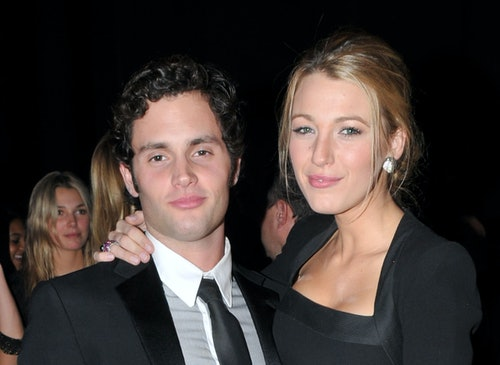 Penn Badgley and Blake Lively, 'Gossip Girl' co-stars who once dated in real life