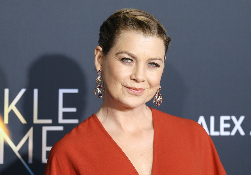 """LOS ANGELES, CA - FEBRUARY 26:  Ellen Pompeo arrives at the Los Angeles premiere of Disney's """"A Wrin..."""