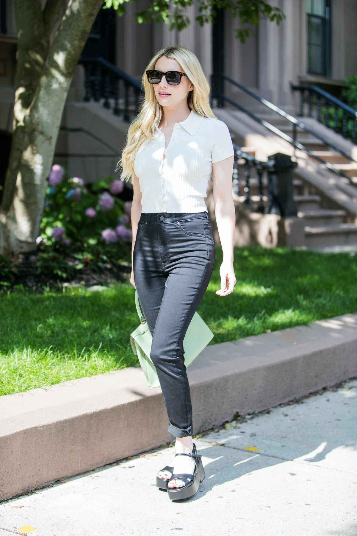 Emma Roberts in Boston, United States in July 2021.
