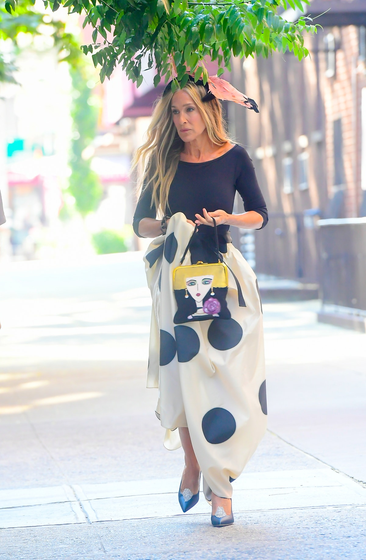 Sarah Jessica Parker seen on the set of 'And Just Like That...' the follow up series to 'Sex and the...