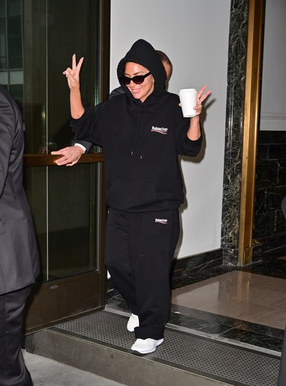 NEW YORK, NEW YORK - AUGUST 03: Lady Gaga seen on the streets of Manhattan on August 03, 2021 in New...