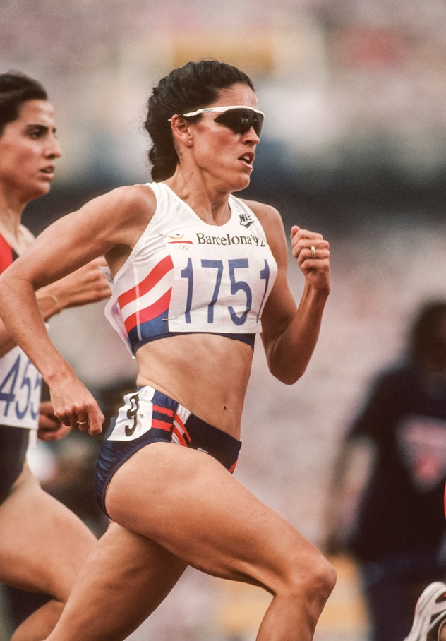 BARCELONA, SPAIN - July 31:  PattieSue Plumer #1751 of the USA runs in the qualifying race of the Wo...