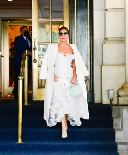NEW YORK, NY - JULY 01:  Lady Gaga is seen in Midtown on July 1, 2021 in New York City.  (Photo by R...