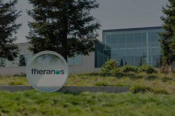 Palo Alto, United States - August 18, 2016: Theranos headquarers, located at 1701 Page Mill Road in ...