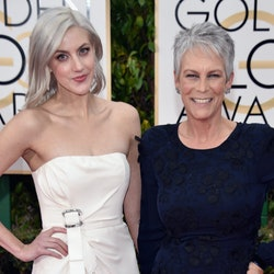 Annie Guest, Jamie Lee Curtis' daughter, on the red carpet with her mom.