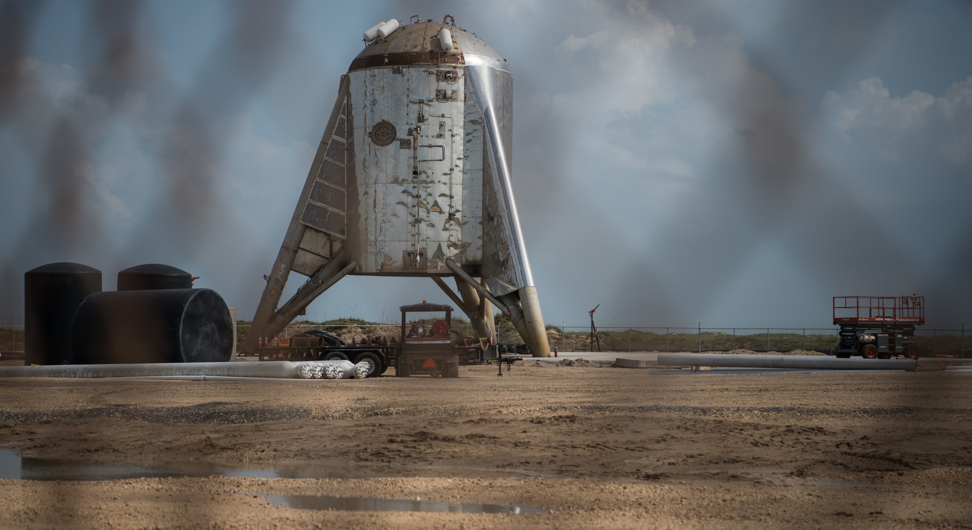BOCA CHICA, TX - SEPTEMBER 28: SpaceX's Starhopper rocket is seen at the company's Texas launch faci...