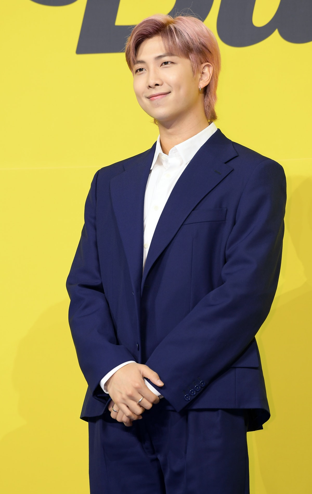 SEOUL, SOUTH KOREA - MAY 21: RM of BTS attends a press conference for BTS's new digital single 'Butt...