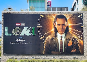 HOLLYWOOD, CA - JUNE 04: General view of a billboard near Hollywood & Vine promoting the upcoming se...