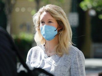 SAN JOSE, CALIFORNIA - MAY 4: Theranos founder Elizabeth Holmes leaves the Robert F. Peckham Federal...
