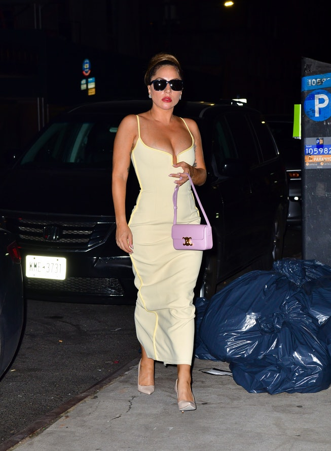 NEW YORK, NEW YORK - AUGUST 07:  (EXCLUSIVE COVERAGE) Lady Gaga seen on the streets of Manhattan on ...