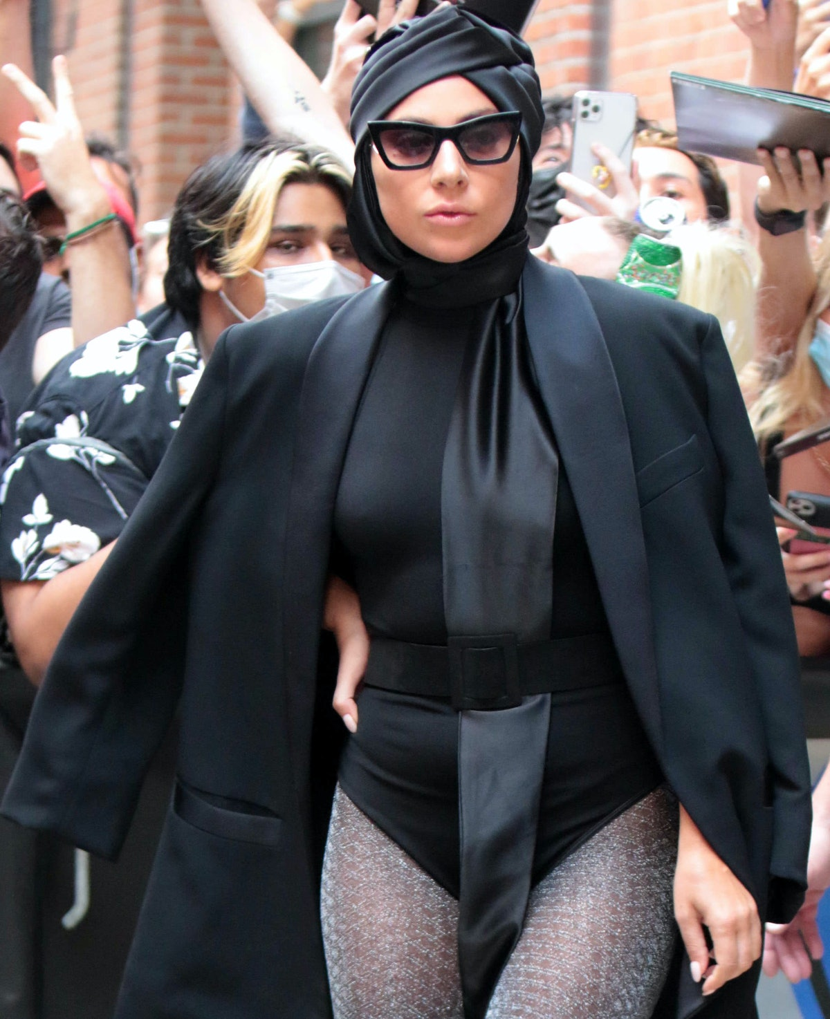 NEW YORK, NY - JULY 28: Lady Gaga is seen on July 28, 2021 in New York City.  (Photo by MediaPunch/B...
