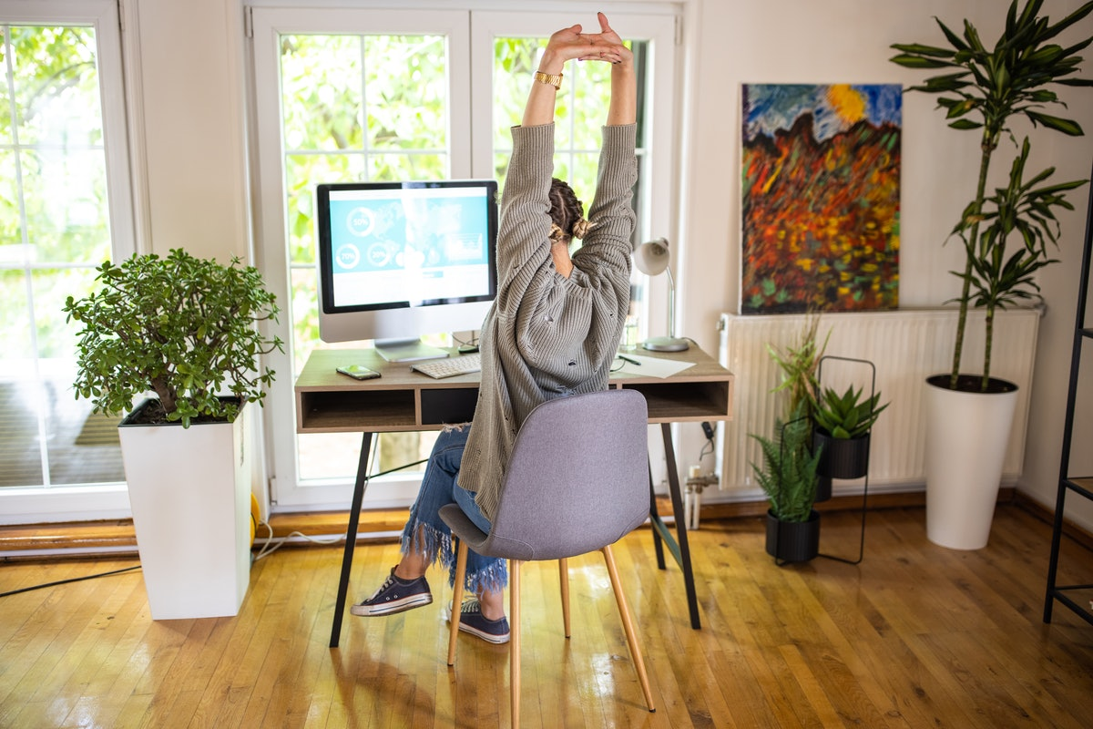 Working from home can cause a lot of upper back pain, which is where these stretches come in.