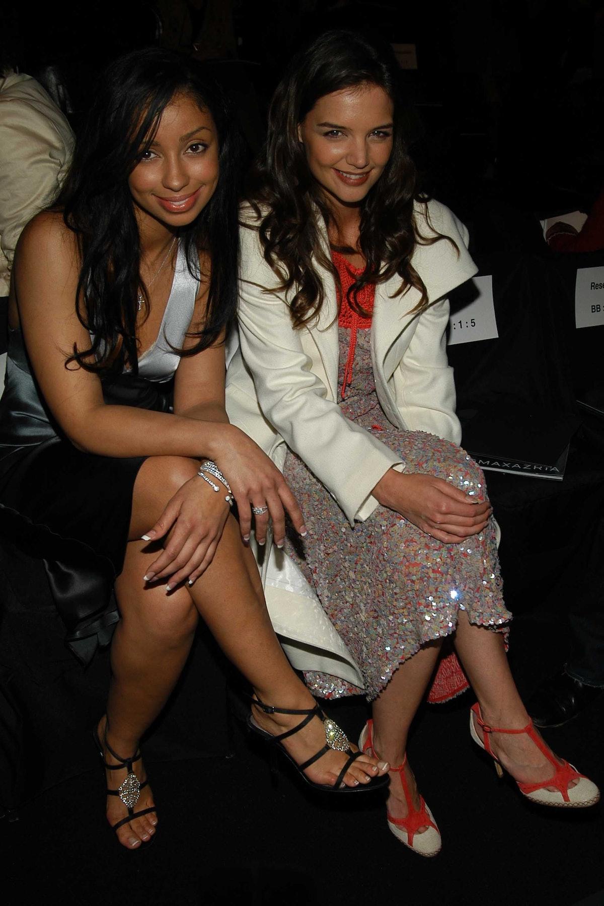NEW YORK CITY, NY - FEBRUARY 7: Mya and Katie Holmes attend BCBG Max Azria Collection Fall 2005 Fash...