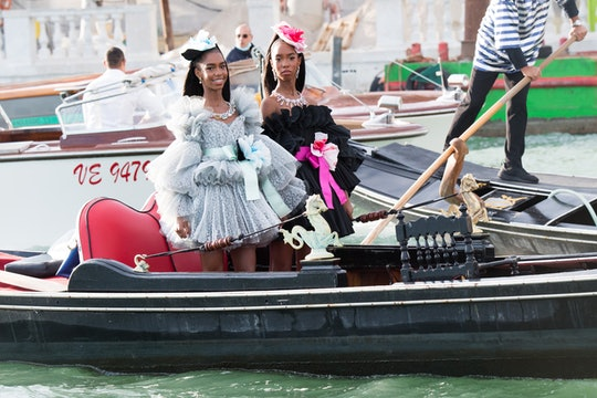 VENICE, ITALY - AUGUST 29:  D'Lila Star Combs and Jessie James Combs are seen during the Dolce&Gabba...