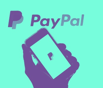SPAIN - 2021/05/19: In this photo illustration a PayPal logo seen displayed on a smartphone with the...