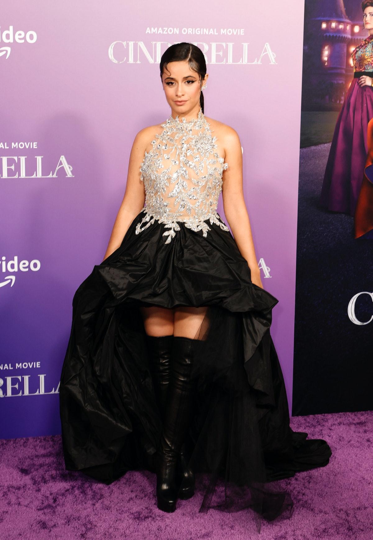 "Camila Cabello attends the Los Angeles Premiere of Amazon Studios' ""Cinderella"" in Los Angeles, Cali..."