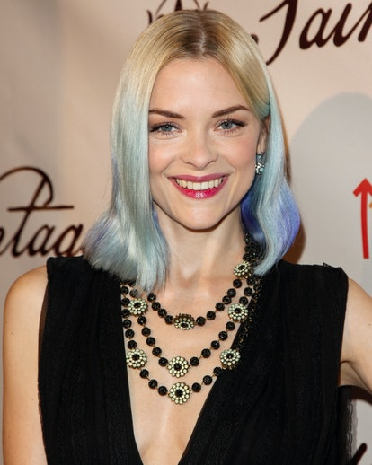Actress Jaime King with blonde to blue hair in 2012.