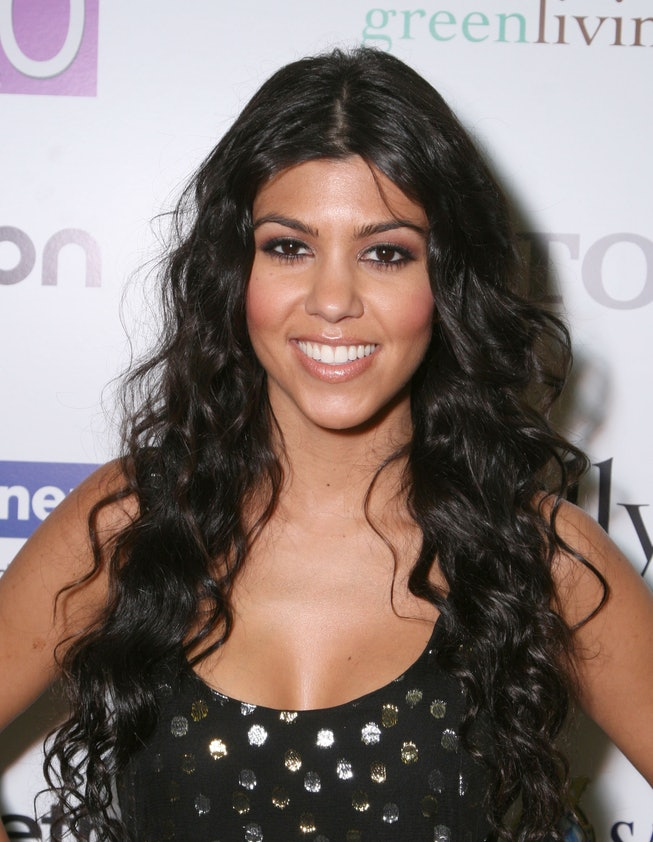 """LOS ANGELES - OCTOBER 9:  Kourtney Kardashian arrives at the Premiere of the new reality show """"Keepi..."""