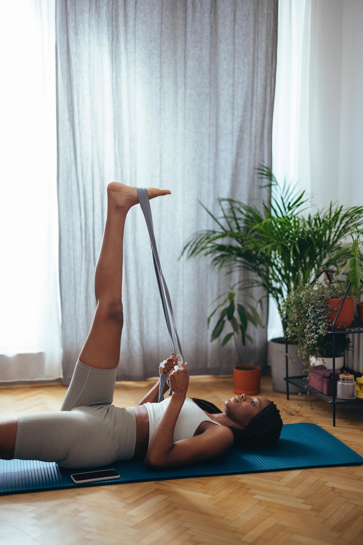 Resistance bands offer plenty of beginner-level exercise moves.